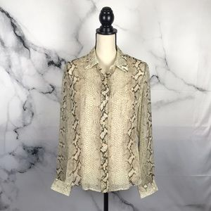Essential Dress Co snake print blouse w/ camisole